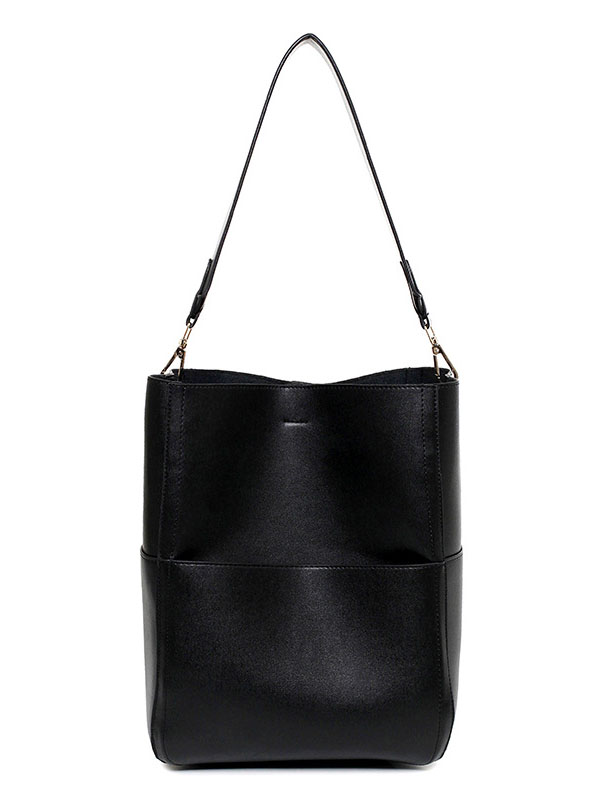 Follower Homochromatism Bottom Pockets Large Space Women's Tote Bag